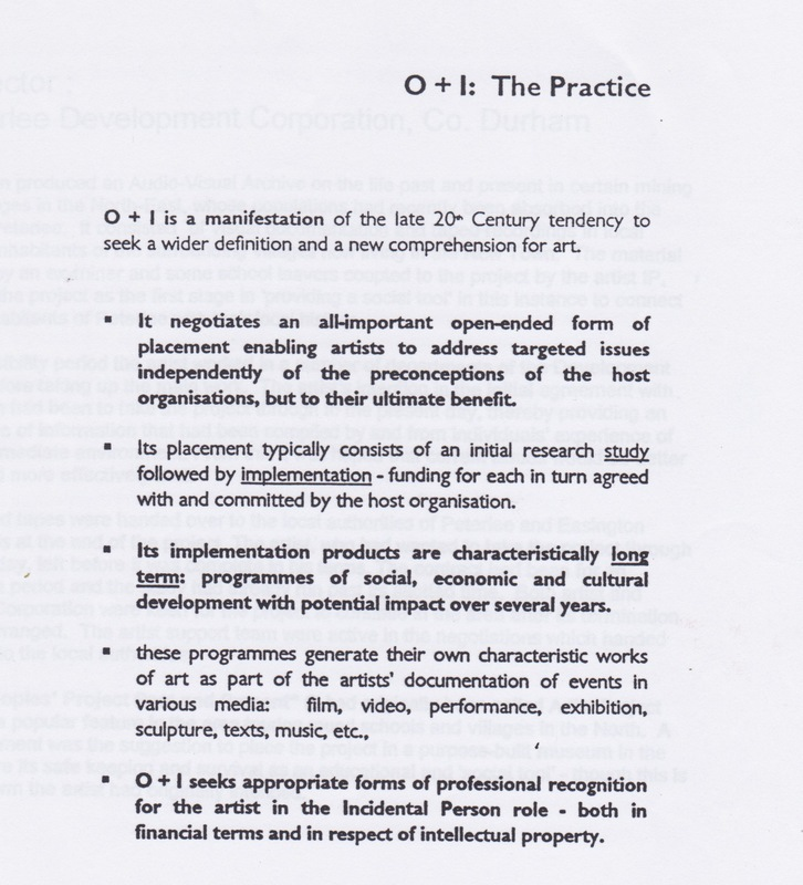 O+I: The Practice